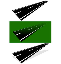 vanishing fading two-lane road in versions simple vector image