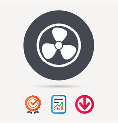 ventilation icon air ventilator or fan sign vector image