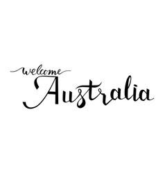 Welcome australia ink vector