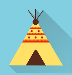 Wigwam icon flat design style modern vector