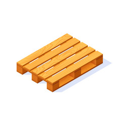 Wooden pallet icon in flat style vector