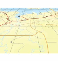 angled map vector image vector image
