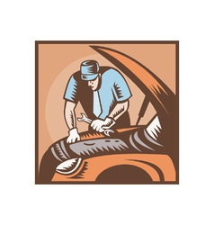 Automobile Mechanic Car Repair vector image vector image