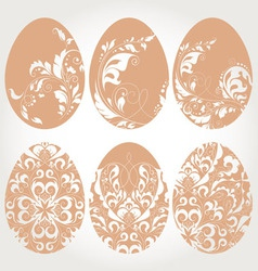 Easter egg with floral elements vector image