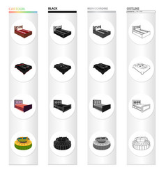 Furniture bed mattress and other web icon in vector