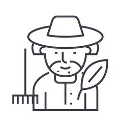 gardener line icon sign on vector image