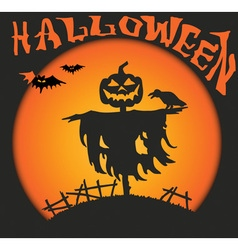 halloween scarecrow vector image