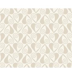 Retro seamless pattern Beige background vector image