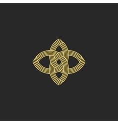 Sacred geometry shape flower logo monogram vector image vector image