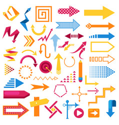 arrow infographic symbol abstract icons set vector image