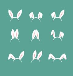 easter bunny cartoon ears celebration mask vector image