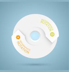 Infographics rotation vector