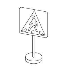 Information road signs icon in outline style vector image vector image