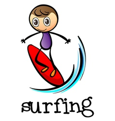 A stickman surfing vector image vector image