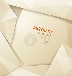 Abstract Origami paper sepia geometric template vector image vector image