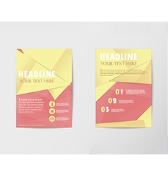 Brochure design Layout template in A4 with gold pa vector image