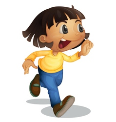 Cute kid running vector image vector image