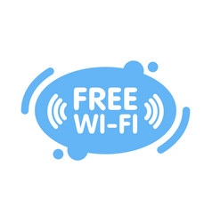 free wi-fi zone sign in abstract line blue vector image vector image
