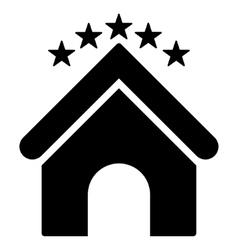 Hotel stars flat icon vector