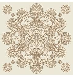 Oriental Indian paisley boho mehendi mandala vector image vector image