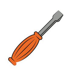 screwdriver repair instrument work vector image