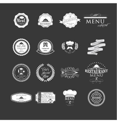 Set of badges and labels elements for restaurant vector image vector image