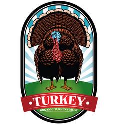 Turkey badge vector