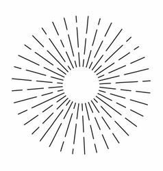vintage sunburst in lines shape linear radial vector image