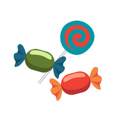 closeup of candies icons on vector image