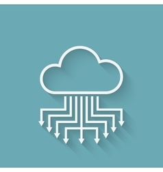 cloud computer server concept symbol vector image