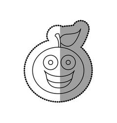 figure kawaii fruit orange happy icon vector image vector image