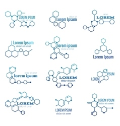 Molecule structure logo or biology model sign vector image vector image