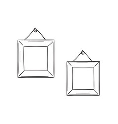 two simple frames in the sketch style vector image