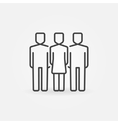 Woman with two men icon vector image vector image