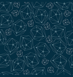 Abstract background with framework crystals vector