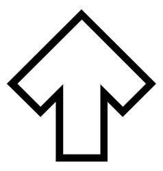 Arrow Up Stroke Icon vector