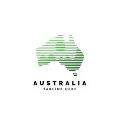 australia forest logo design vector image
