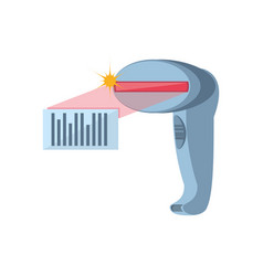 Barcode scanner isolated icon vector