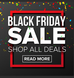 black friday sale banner marketing vector image
