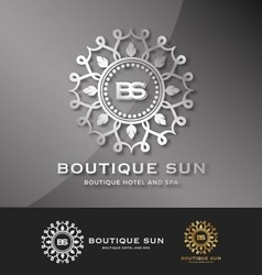 Boutique hotel and spa logo design vector image