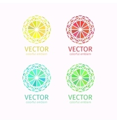 Business geometric colorful logo template set vector image