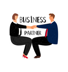 business partner cartoon vector image