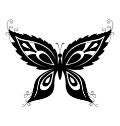 butterfly black silhouettes vector image