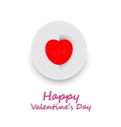 Card happy valentine day vector