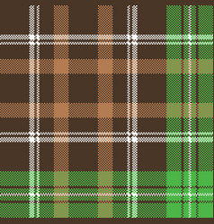 Check pixel plaid fabric texture seamless pattern vector