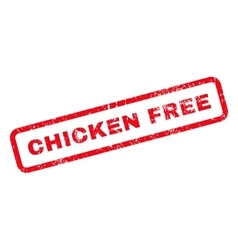 Chicken Free Text Rubber Stamp vector image
