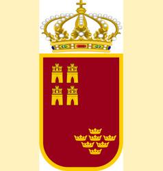 Coat arms region murcia in spain vector