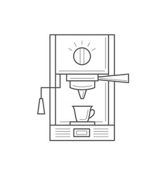 coffee making equipment vector image