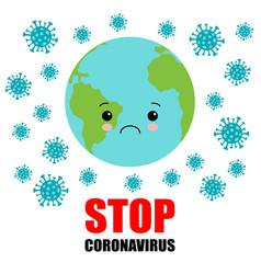 coronavirus infection on planet earth coronavirus vector image