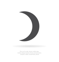 crescent moon1 vector image